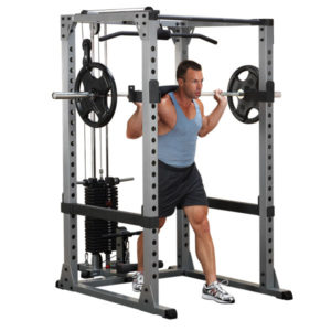 Body-Solid Power Rack with Optional Lat Attachment