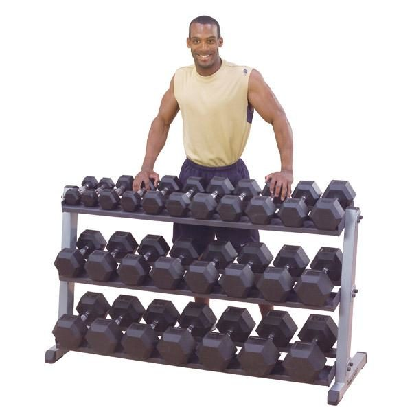 Body-Solid Three-Tier Dumbbell Rack