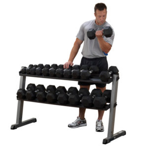 Body-Solid Two-Tier Dumbbell Rack