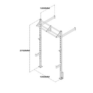 Wall Mount Functional Training Rig Technical Drawing
